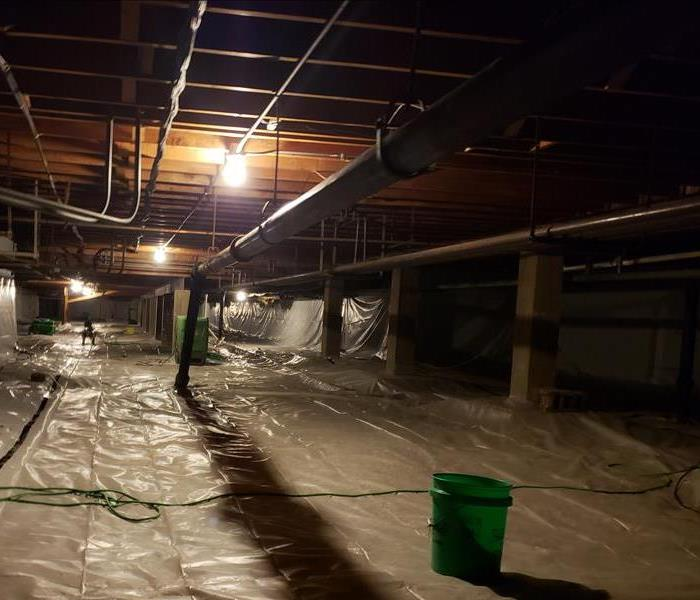 The same crawlspace after an extensive cleaning