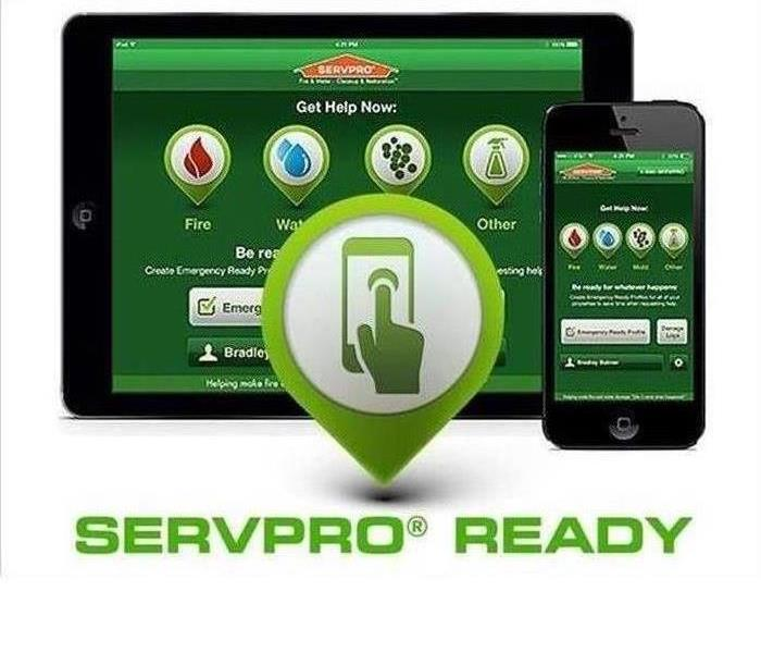 An iPad and iPhone with the SERVPRO Ready app displaying on both